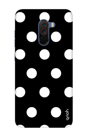 White Polka On Black Xiaomi Pocophone F1 Cases & Covers Online