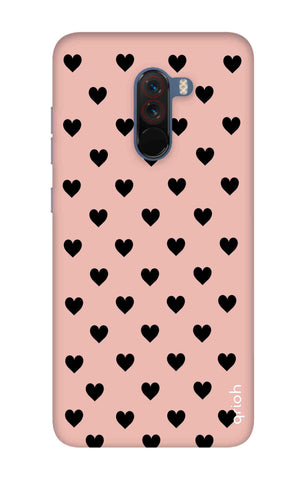 Black Hearts On Pink Xiaomi Pocophone F1 Cases & Covers Online