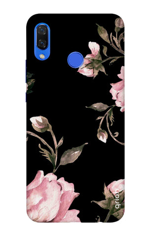 Pink Roses On Black Huawei Nova 3i Cases & Covers Online