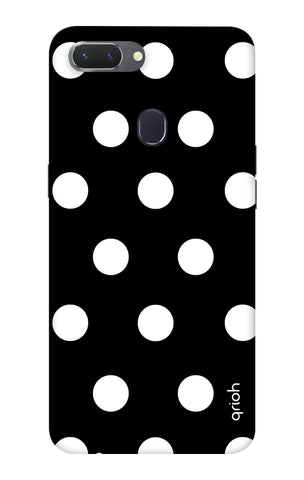 White Polka On Black Oppo Realme 2 Cases & Covers Online