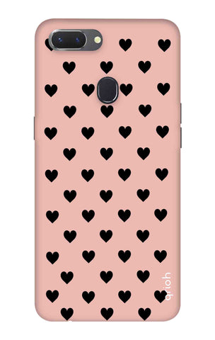 Black Hearts On Pink Oppo Realme 2 Cases & Covers Online