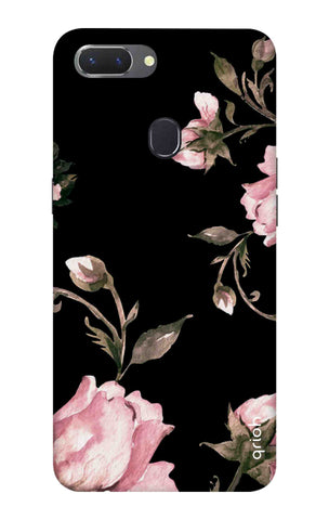 Pink Roses On Black Oppo Realme 2 Cases & Covers Online