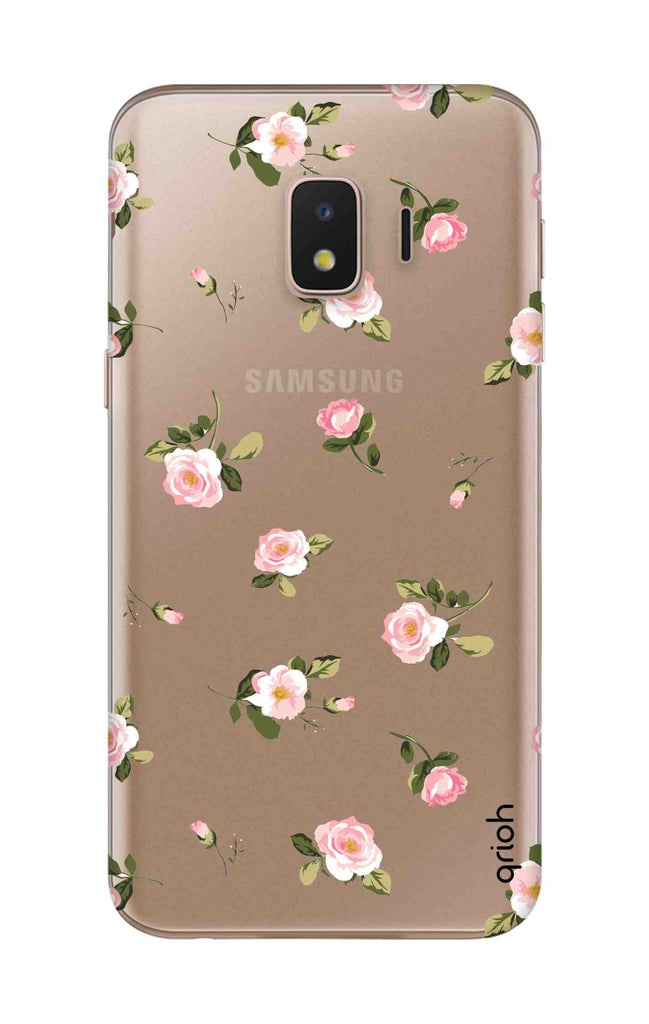 separation shoes 01282 8f70f Pink Rose All Over Case for Samsung J2 Core