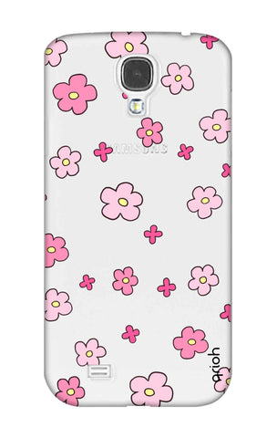 Pink Flowers All Over Samsung S4 Cases & Covers Online
