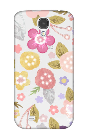 Multi Coloured Bling Floral Samsung S4 Cases & Covers Online