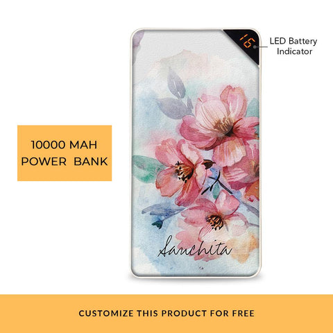 Elegant Bloom Customized Power Bank