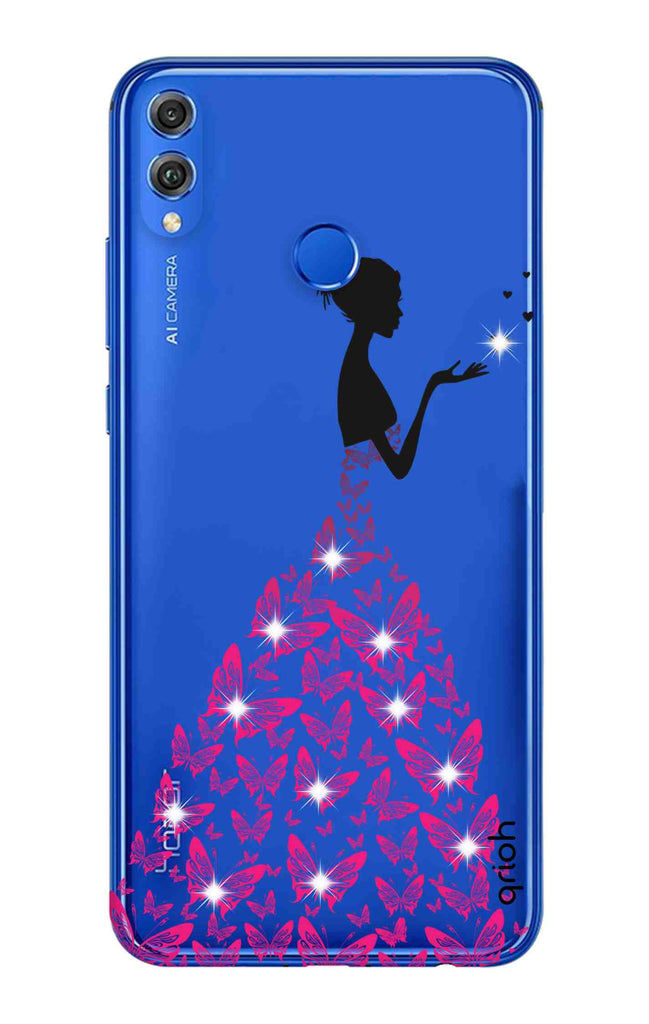 newest a1497 e3cc1 Princess Case With Heart for Huawei Honor 8X