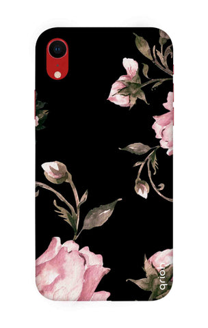 Pink Roses On Black iPhone XR Cases & Covers Online