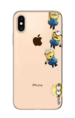 Falling Minions iPhone XS Cases & Covers Online