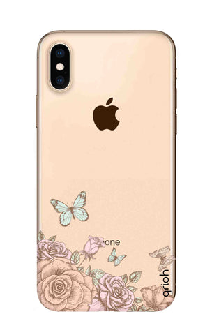 Flower And Butterfly iPhone XS Cases & Covers Online