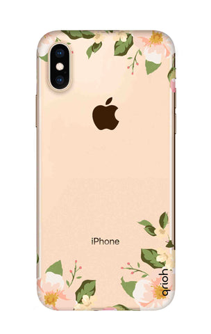 Flower In Corner iPhone XS Max Cases & Covers Online