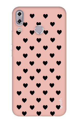 Black Hearts On Pink Asus Zenfone 5z Cases & Covers Online