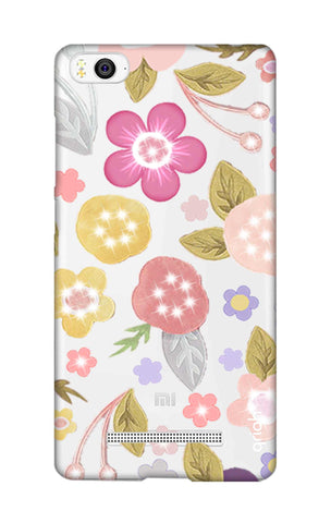 Multi Coloured Bling Floral Xiaomi Mi 4i Cases & Covers Online