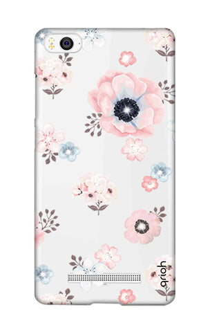 Beautiful White Floral Xiaomi Mi 4i Cases & Covers Online