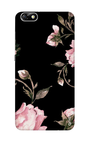 Pink Roses On Black Honor 4X Cases & Covers Online
