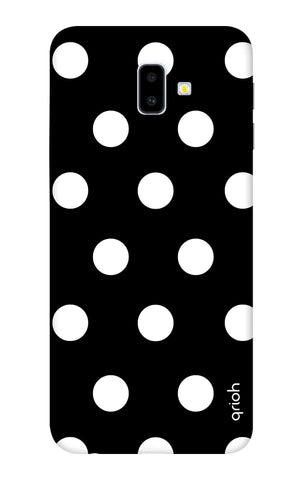 White Polka On Black Samsung J6 Plus Cases & Covers Online