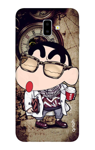 Nerdy Shinchan Samsung J6 Plus Cases & Covers Online