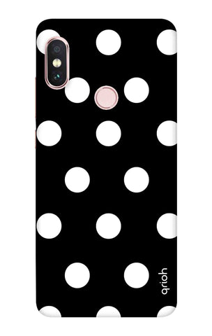 White Polka On Black Xiaomi Redmi Note 6 Pro Cases & Covers Online
