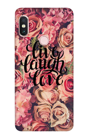 Floral Live, Laugh, Love Xiaomi Redmi Note 6 Pro Cases & Covers Online