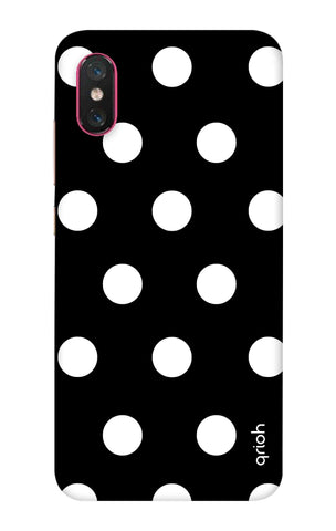 White Polka On Black Xiaomi Mi 8 Pro Cases & Covers Online