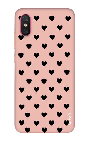 Black Hearts On Pink Xiaomi Mi 8 Pro Cases & Covers Online