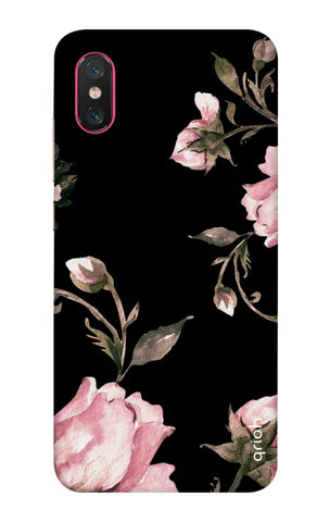 Pink Roses On Black Xiaomi Mi 8 Pro Cases & Covers Online