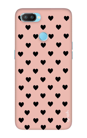 Black Hearts On Pink Oppo Realme 2 Pro Cases & Covers Online