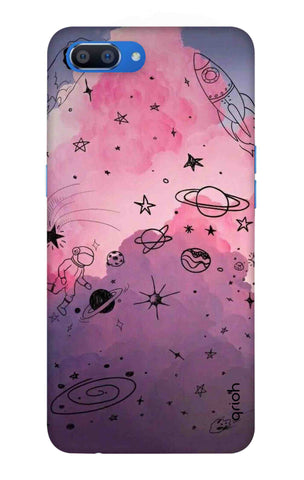 Space Doodles Art Oppo Realme C1 Cases & Covers Online