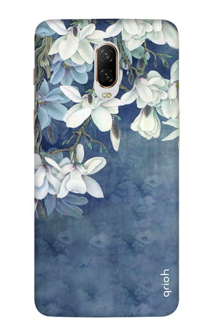 White Flower OnePlus 6T Cases & Covers Online