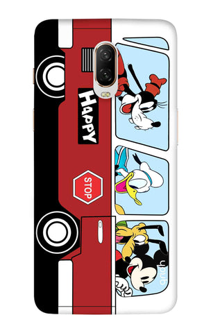 Cartoon Bus OnePlus 6T Cases & Covers Online