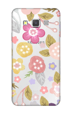 Multi Coloured Bling Floral Samsung A3 Cases & Covers Online