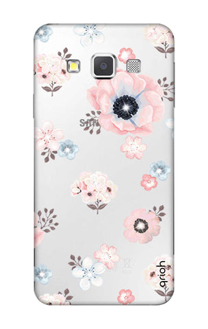 Beautiful White Floral Samsung A3 Cases & Covers Online