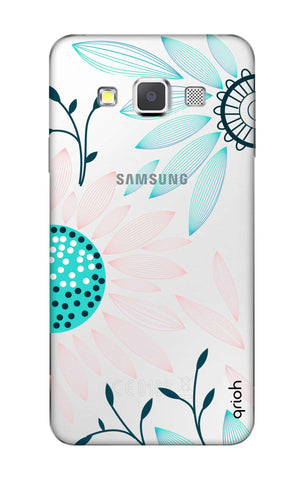 Pink And Blue Petals Samsung A3 Cases & Covers Online