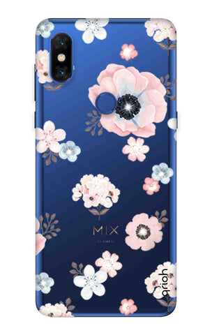 Beautiful White Floral Xiaomi Mi Mix 3 Cases & Covers Online