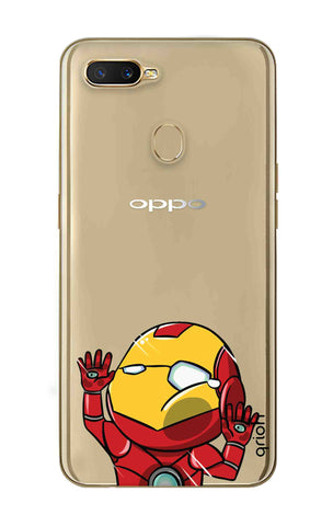 Iron Man Wall Bump Oppo A7 Cases & Covers Online
