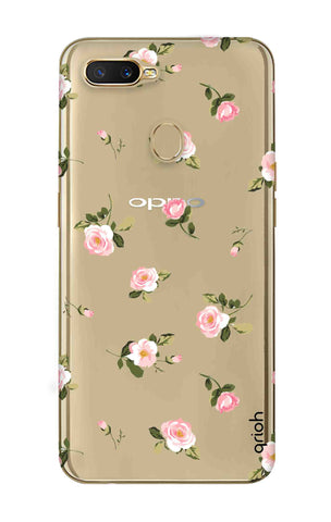 Pink Rose All Over Oppo A7 Cases & Covers Online