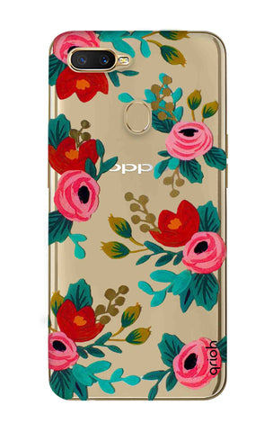 Red Floral Oppo A7 Cases & Covers Online