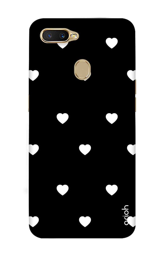new concept 7f6e0 056b0 White Heart Case for Oppo A7