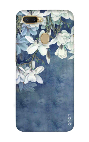 White Flower Oppo A7 Cases & Covers Online