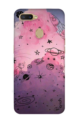 Space Doodles Art Oppo A7 Cases & Covers Online