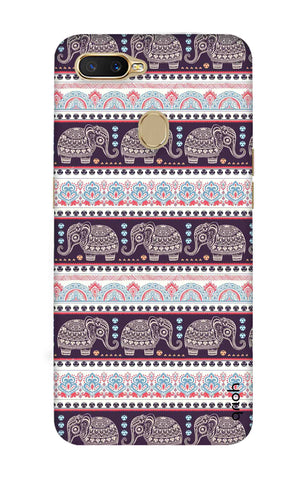 Elephant Pattern Oppo A7 Cases & Covers Online