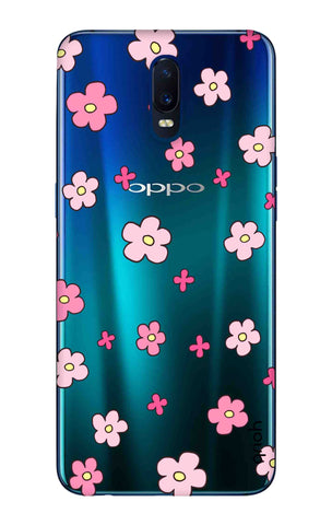 Pink Flowers All Over Oppo R17 Cases & Covers Online