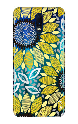 Stitched Floral Oppo R17 Cases & Covers Online