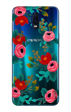 Red Floral Oppo R17 Cases & Covers Online