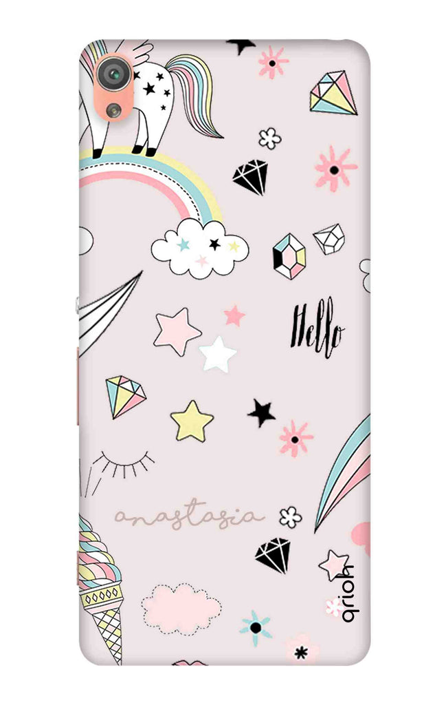 finest selection 37f03 30080 Unicorn Doodle Case for Sony Xperia XA