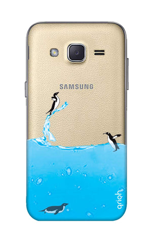 Penguins In Water Samsung J2 Cases & Covers Online