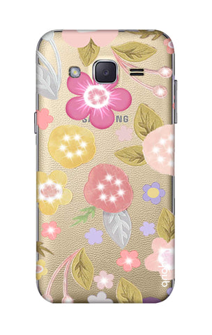 Multi Coloured Bling Floral Samsung J2 Cases & Covers Online