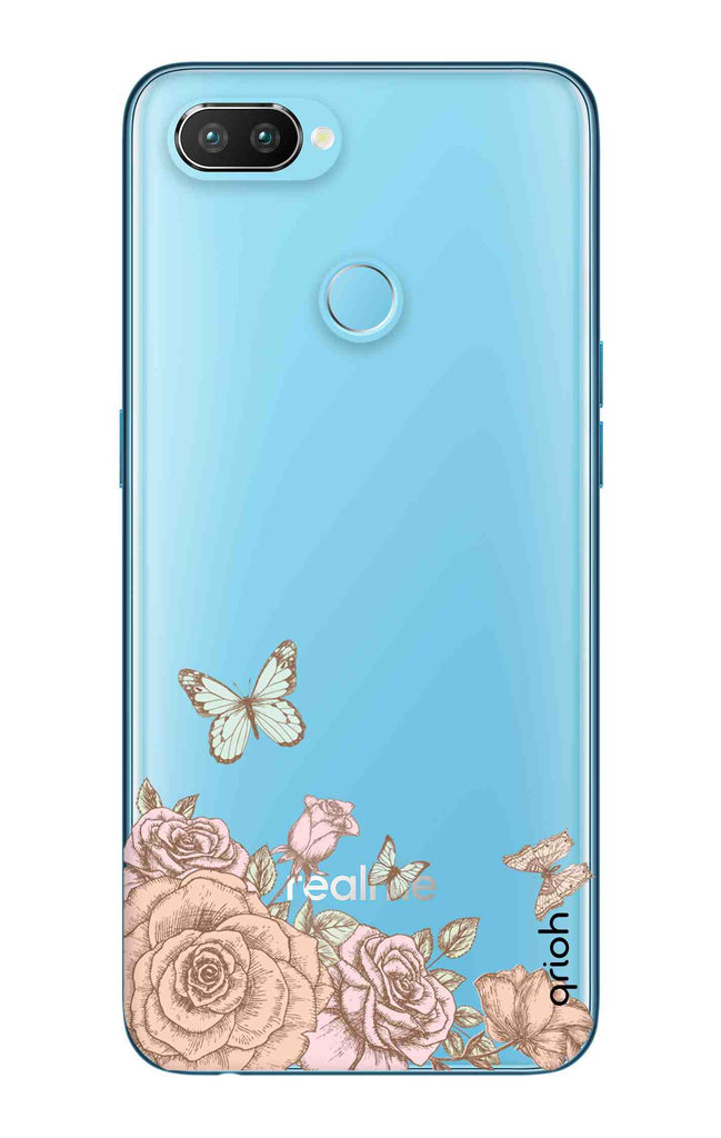 sale retailer 09f26 6f8d1 Flower And Butterfly Case for Realme U1