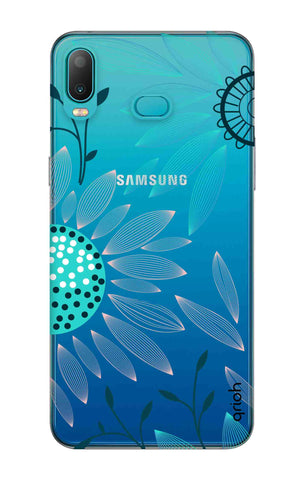 Pink And Blue Petals Samsung Galaxy A6s Cases & Covers Online