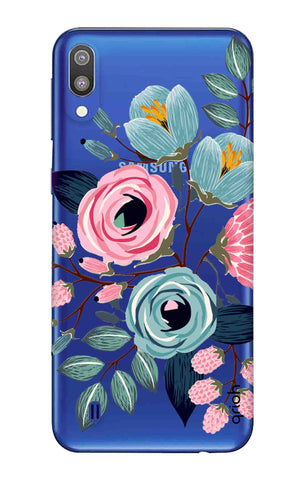 Pink And Blue Floral Samsung Galaxy M10 Cases & Covers Online